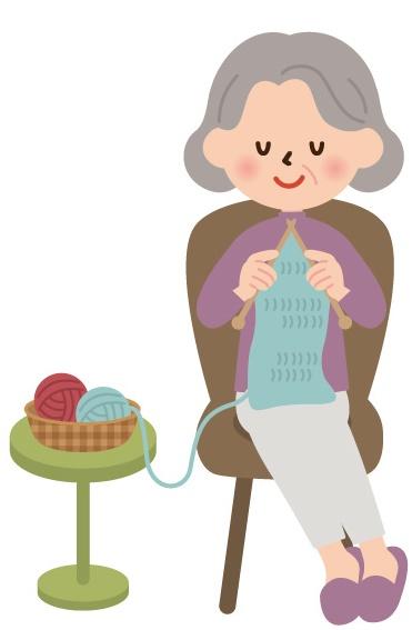 手芸してるおばあちゃん