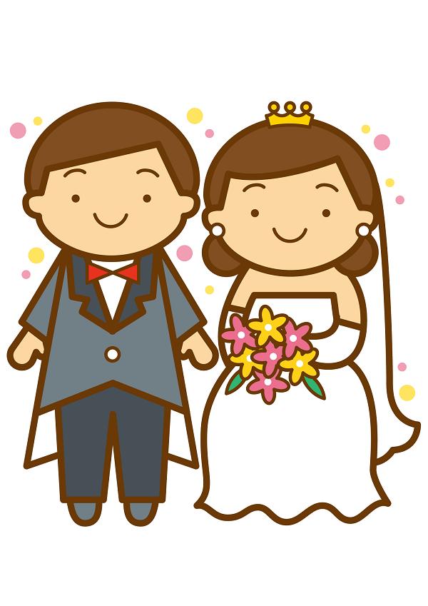 結婚式をしてる