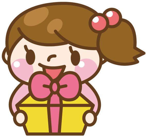 プレゼントを渡している女の子