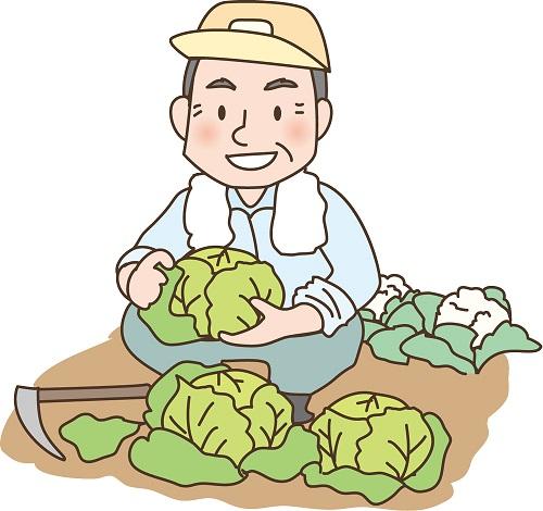 農業をする祖父