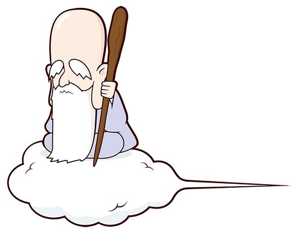 雲に乗っている仙人